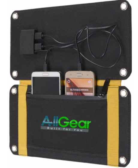 allgear 15w foldable solar panel charger for phone
