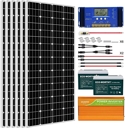 ECO-WORTHY 1KW Complete Solar Panel System Kit