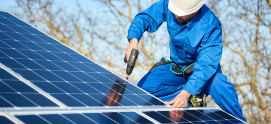 installing solar panel on home roof