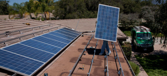 installing solar panel on small home roof