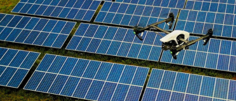 aerial drone solar panel inspection