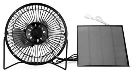 small portable fan with solar panels